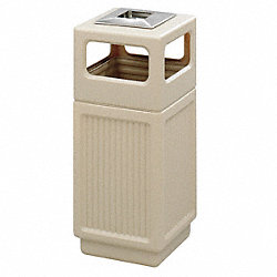 Ash/Trash Receptacle, 15 G, Tan
