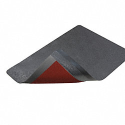 Anti-Fatigue Mat, Rubber, Blk, 1 In, 2 x3 ft