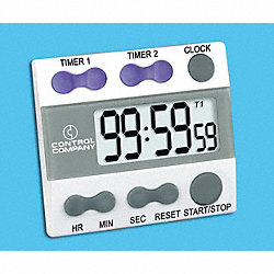 Digital Timer, 3/4 In. LCD, 2 Channels