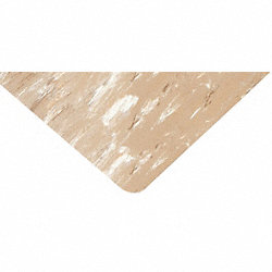 Anti-Fatigue Mat, SBR, PVC, Beige, 3 x 5 ft