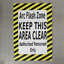 Floor Arc Flash Zone Sign, 36 x 42 In.
