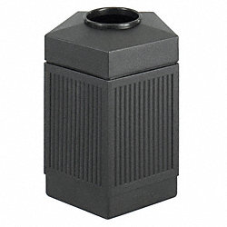 Waste Receptacle, Pentagon, Black, 30 G