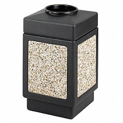 Trash Receptacle, Aggregate, 38 G, Black