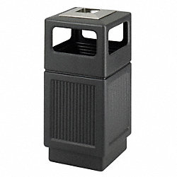 Ash/Trash Receptacle, 38 G, Black