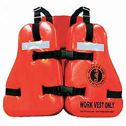 Work Vest, Vinyl, Size Universal, Orange